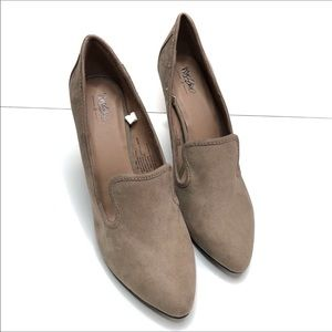 Mossimo Faux Suede Taupe Heels Size 10